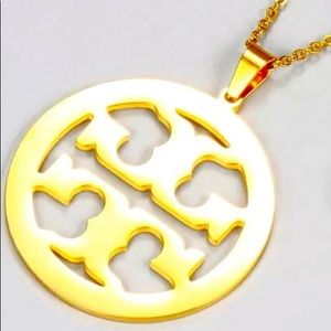 Tory Burch gold plated pendant